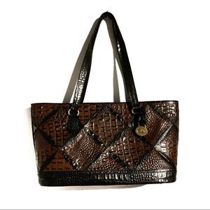 Brahmin RETIRED Sasha Quincy Quilted 3D Bag Brown